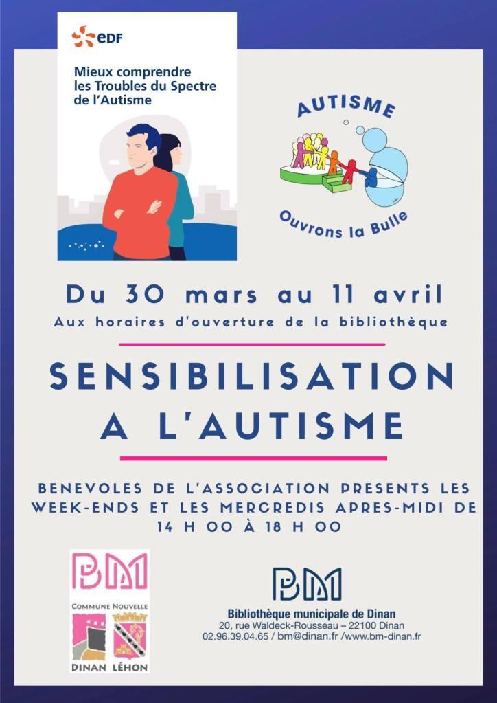 sensibilisation à l'autisme, Dinan, 2 avril autisme